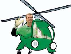 Antremana helikopterle indi