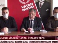 "VATAN PARTİSİ BEYLİKDÜZÜ'NDEN ""HAYALİ İHALE""YE TEPKİ"