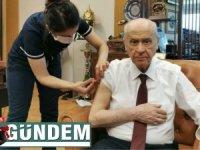 MHP Lideri Bahçeli corona aşısı oldu