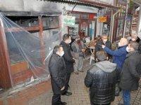 Menteşe Belediyesi'nden yangında zarar gören işyerlerine destek