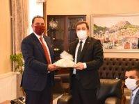 Cezayir'in Ankara Büyükelçisi Mourad Adjabi, Vali Orhan Tavlı'yı Ziyaret Etti