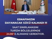 Turizm bölgelerinde saat sınırlanması 24:00'e alınmalı