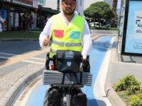 Kazak Bisikletçi Marmaris'e Hayran Kaldı