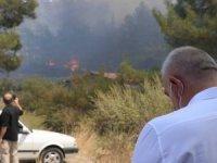 Kültür ve Turizm Bakanı Mehmet Nuri Ersoy yangın bölgesinde