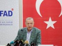 """Erdoğan, """"Ormanlarımızı yakanları bulup ciğerlerini yakmak boynumuzun borcudur"""""""