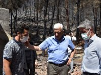 Başkan Gürün, Marmaris Yangın Mağdurlarının Yanında