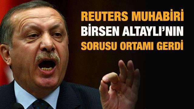 Başbakan Erdoğan Basın Toplantısında Gazeteci Birsen Altaylı ile Tartıştı